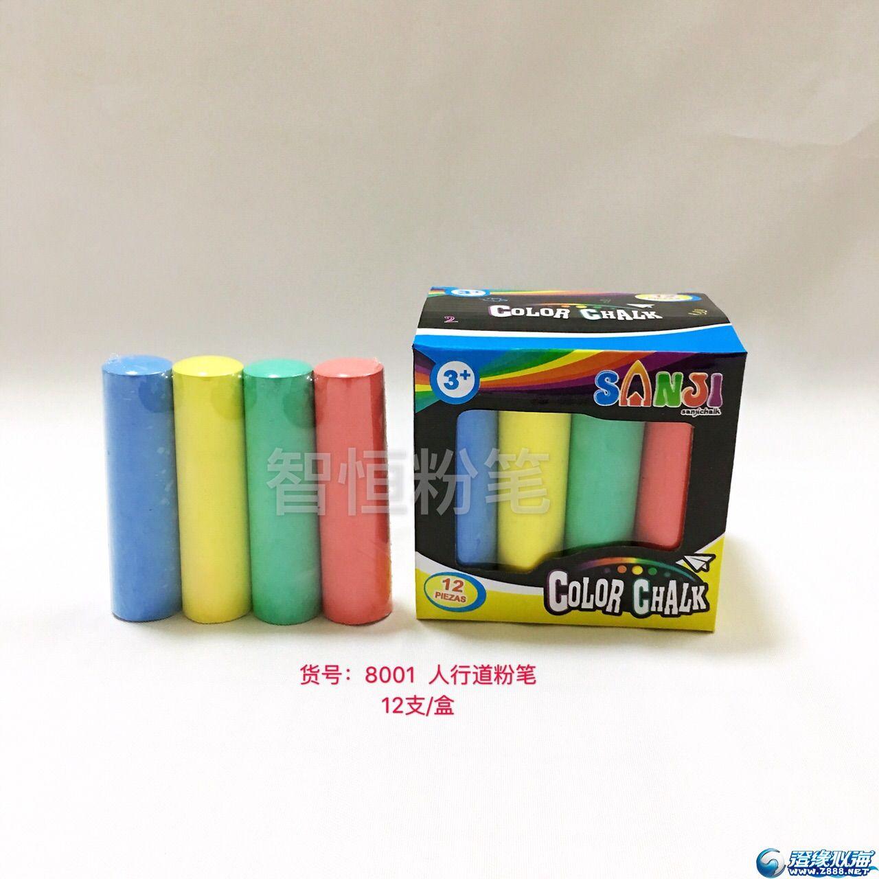 厂家直销批发大粉笔 出口欧美等国家 人行道粉笔 儿童彩色玩具粉笔
