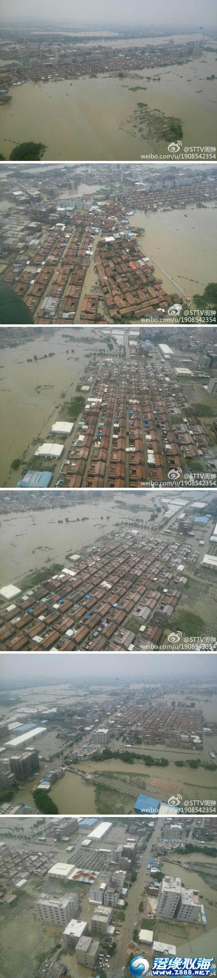 今天的航拍图片,潮南陈店,司马浦受灾十分严重,受浸第