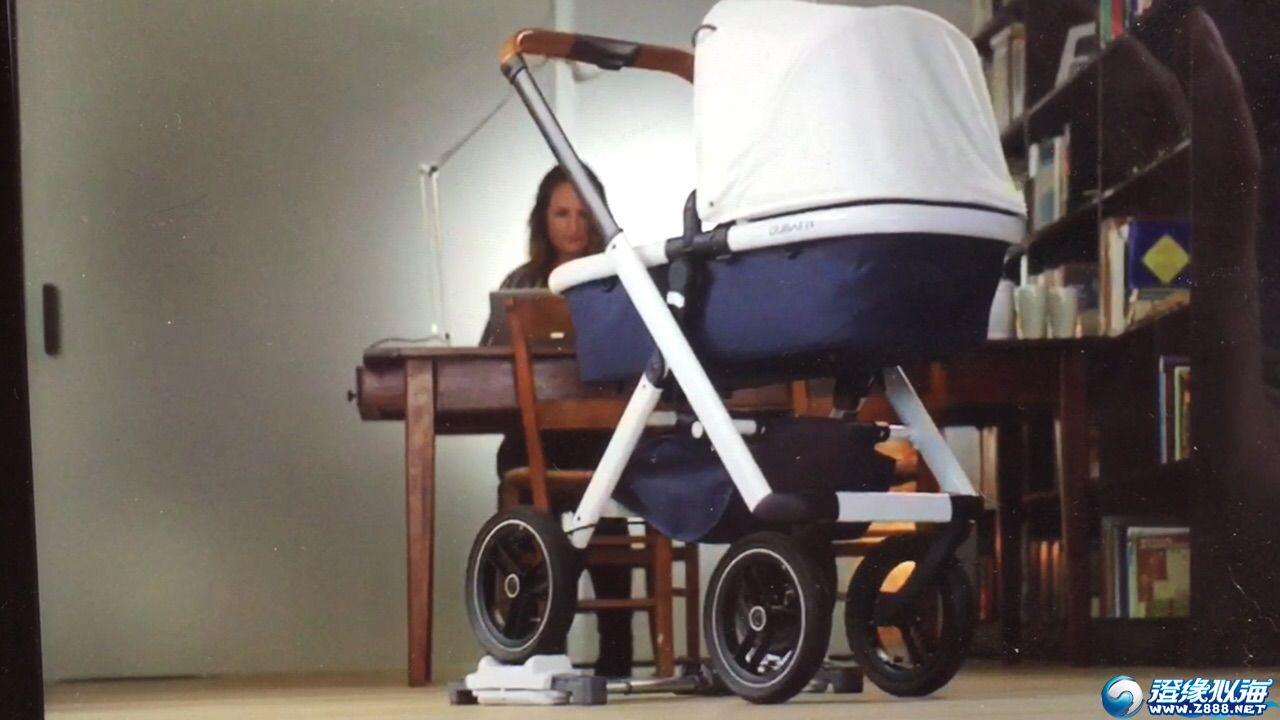 婴儿摇篮车推到装置