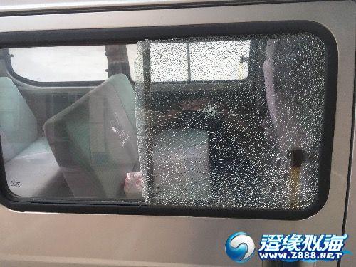停車被惡意用鋼珠射擊
