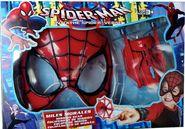 新品:蜘蛛侠面具+发射器