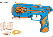 DIY木质拼装皮筋枪