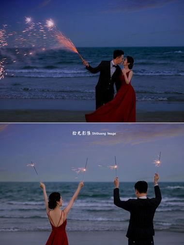【拾光影像】婚纱摄影晚上怎么拍照片好看?