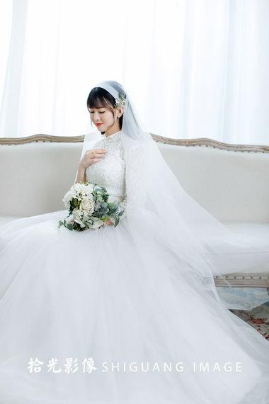 【拾光影像】气质女孩都爱的极简婚纱照